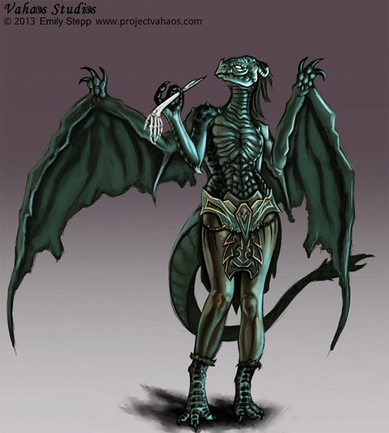 dragon humanoid emily stepp