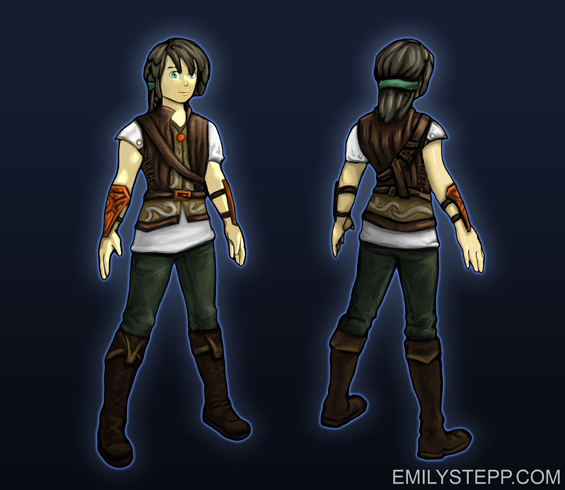 main character anime jrpg game design Emily Stepp