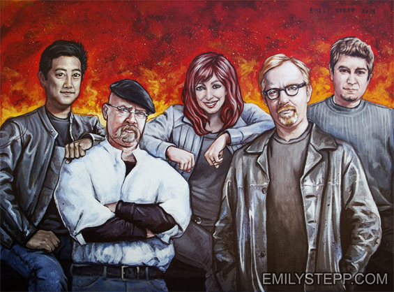 mythbusters tribute portrait painting Emily Stepp